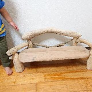 流木whiteベンチ・子供用 - 家具