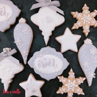アイシングクッキー クリスマスオーナメント