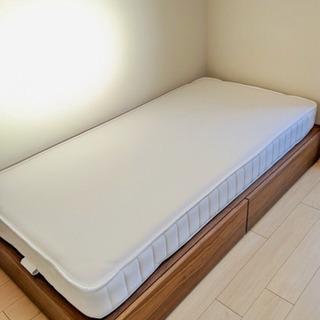11/23受取優先【無印良品】ベッド+収納+マットレス