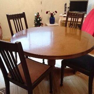 定価17万 飛騨産業 穂高 丸テーブル