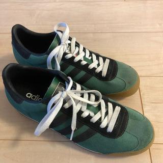 【新品/未使用】アディダス スニーカー 27.5センチ 緑×黒