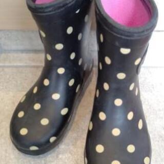女の子 水玉長靴 16.0cm