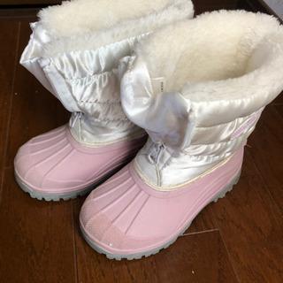 IGNIO キッズスノーブーツ  ホワイト×ピンク サイズ 17cm