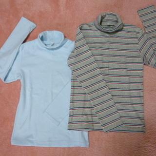 ユニクロ タートルネック長袖Tシャツ 未使用140cm✖二枚