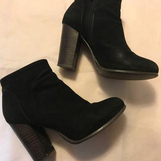 【革】スエード ブーティー ブーツ ショートブーツ