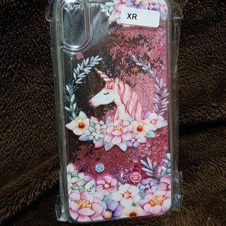 iPhoneXR対応☆キラキラ グリッター ユニコーン