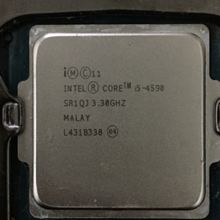 CPU corei5 4590 クーラー付き