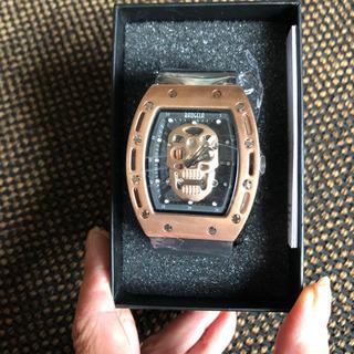 スケルトンスカル腕時計