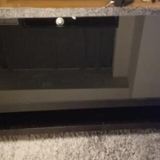 ガラス天板 ローテーブル(黒)