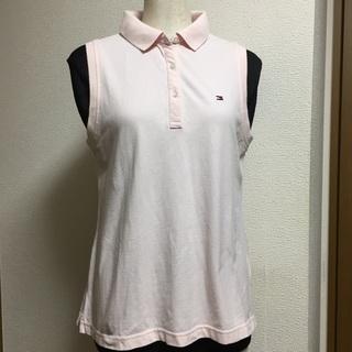 トミーヒルフィガー ピンク ポロシャツ レディース Lサイズ