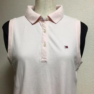 トミーヒルフィガー ピンク ポロシャツ レディース Lサイズ - 江東区