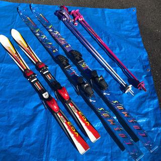 スキー板 大人用と子供用 セット 練習に!