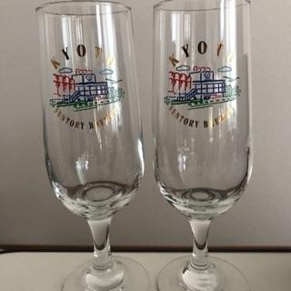 ★サントリー 京都ビール工場 ビール(シャンパン)グラス 2脚セ...