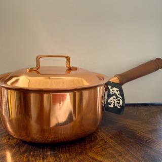 【未使用品】純銅の片手鍋18㎝