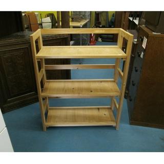 札幌 木製 幅68cm 折りたたみ収納棚 3段 ラック 家具 収...