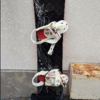 スノーボード板とビンディング 一回だけ使用