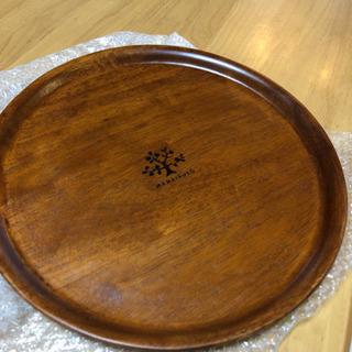 木製トレイ (トレイ/円形盆)