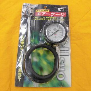 ダイヤル式 タイヤエアゲージ 空気圧測定 空気圧チェッカー オー...
