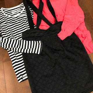 吊りタイトスカート カットソー セーター セット L