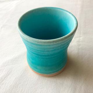 未使用品◎  陶器  turquoise blue  コップ
