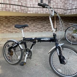 20インチ 折りたたみ自転車 アルミフレーム 6段切り替え ブラ...