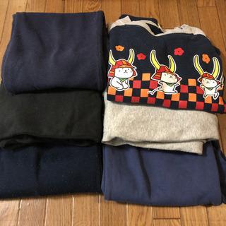 【中古】パジャマ1セット + ズボン4本 150cm