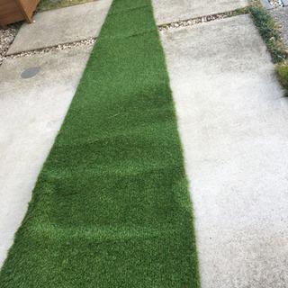 【美品】人工芝と防草シート