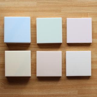 9.7cm角の正方形タイル(6種類、計30枚)