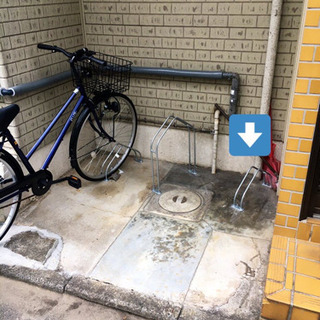 駐輪スペースの整理・ボルト固定