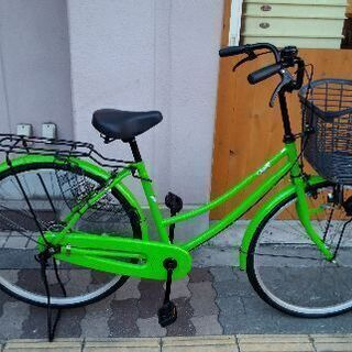 Clove 26吋ファミリーサイクル シングル/ライトグリーン