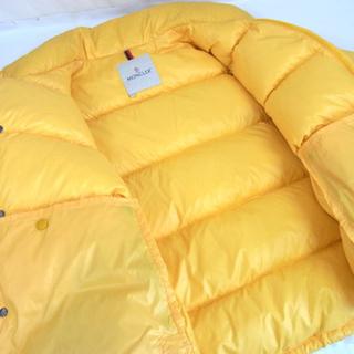 南12条店 本物 Moncler/モンクレール ダウンジャケット ベローネ イエロー サイズ0 - 服/ファッション