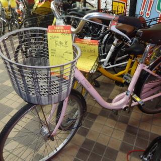 【引取限定】26インチ自転車 ピンク色 042D8287 中古品...