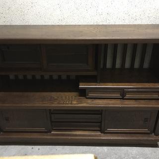 木製 茶箪笥 サイドボード キャビネット レトロ アンティーク ...