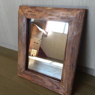 アンティーク 木製ミラー