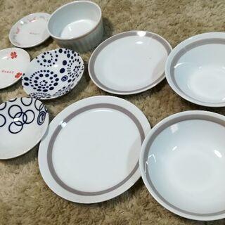 たち吉ペア小皿 平皿 スープ皿 BAQET 11枚 お皿 深皿 和皿