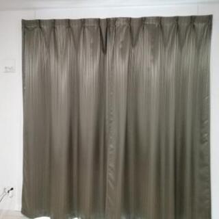 遮光カーテン&ミラーレース2枚組 100×220