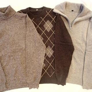 メンズ秋冬~来春ファッションMLサイズ10点セット◆カシミ…