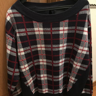 🌸チェック柄セーターLLサイズ