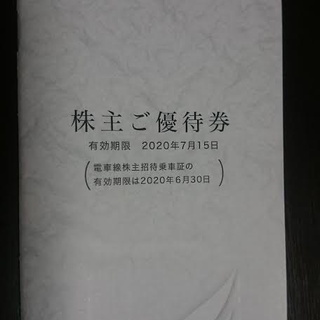 株主優待券 名古屋鉄道株式会社