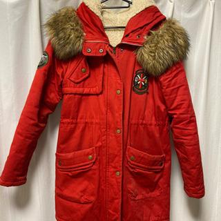 赤★ボア付きコート