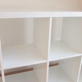 イケア IKEA 棚 KALLAX カラックス 白 - 家具