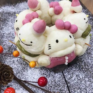 【パン教室FUTABA】白ネコ&雪だるまリング