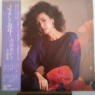 内田 あかり LPレコード『よろしく乾杯』 帯つき