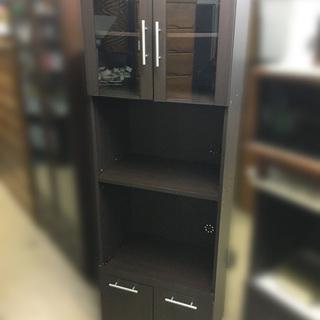 【自社配送は札幌市内限定】格安 食器棚 キッチン収納 ブラ…