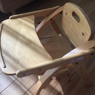 子供用 食事椅子 木製