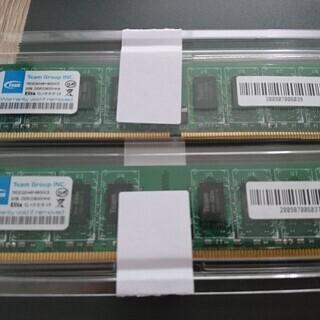 PC用メモリ DDR2 2GBx2枚 譲ります