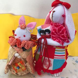 うさぎのお人形 2コセット