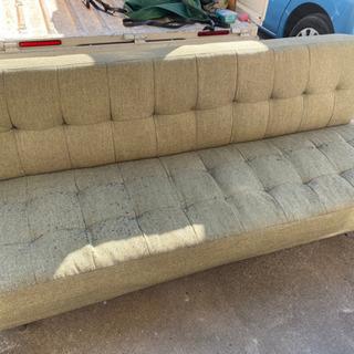 ソファベッド ソファ ベッド 3人掛け 段階調節可能 グリーン