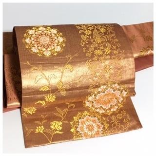 美品 高級 付け帯 華模様 極上 正絹 袋 二重太鼓 作り帯 ...