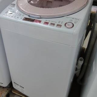 SHARP/シャープ 8.0kg 洗濯機 2017年製 ピンク ...